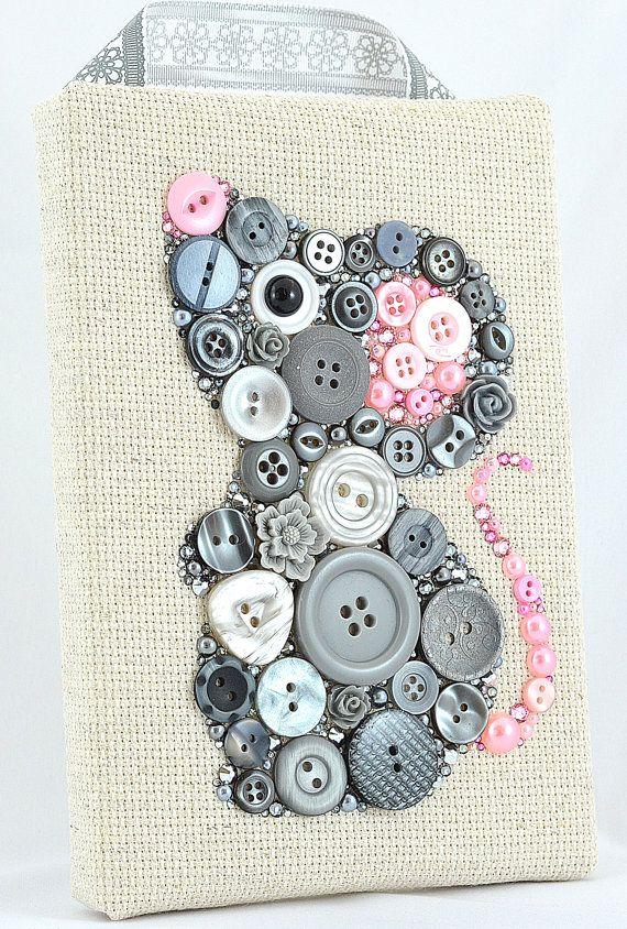 Button Art Grey Mouse Nursery