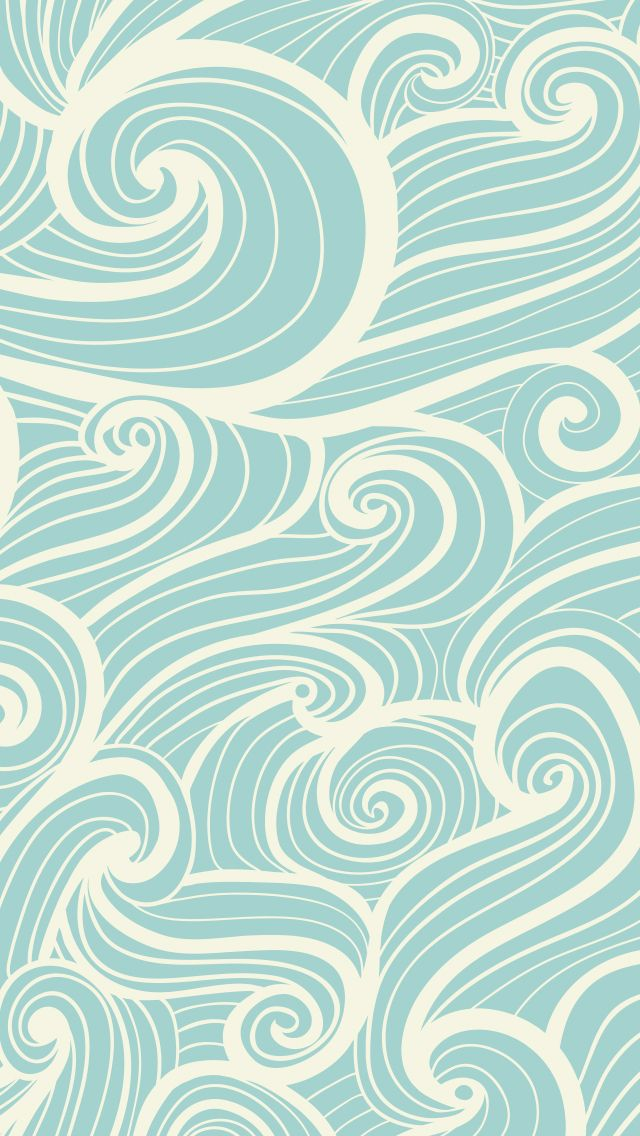 iphone wallpaper blue waves - iPhone pattern Wallpapers @mobile9