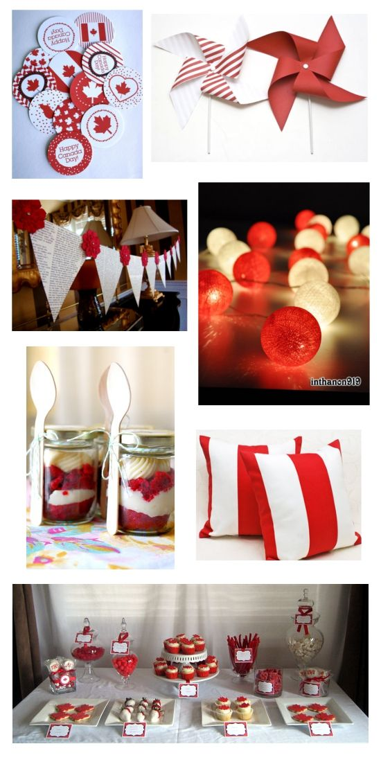 Great Canada Day blog - lots of nifty decorating ideas