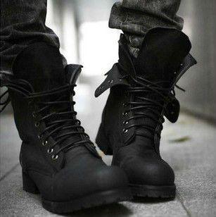 Bottes de combat hiver, deux couleurs retro england- style à la mode bottes d'équitation court hommes chaussures noires à chaud! Ws011