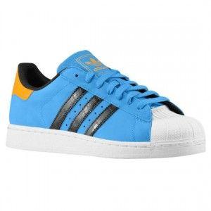 poco prezzo Uomo Trainer Adidas Originals Superstar 2 giallo e blu chiaro e nero