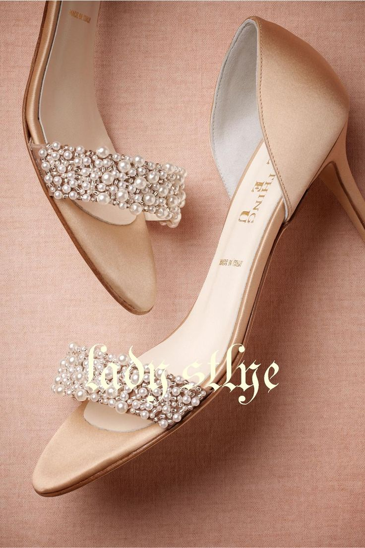 Champagne High Heels Medium Length Decorated With Beading Pearls Open Toe Women Shoes As Low 8543 Also Buy Online Bridal Paradox