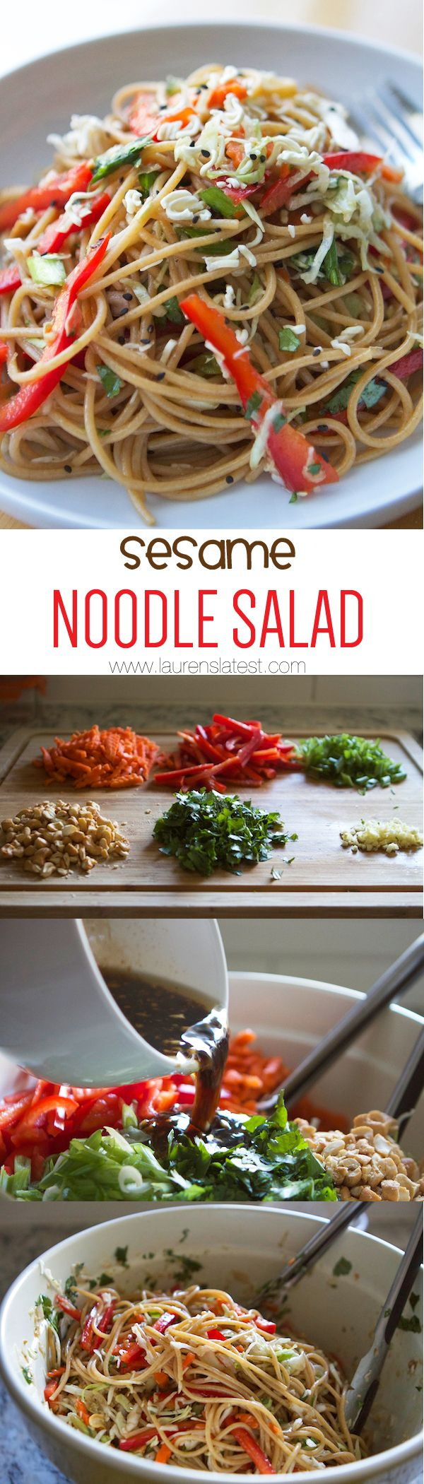 Sesame Noodle Salad....perfect potluck salad cause there's no mayo!!