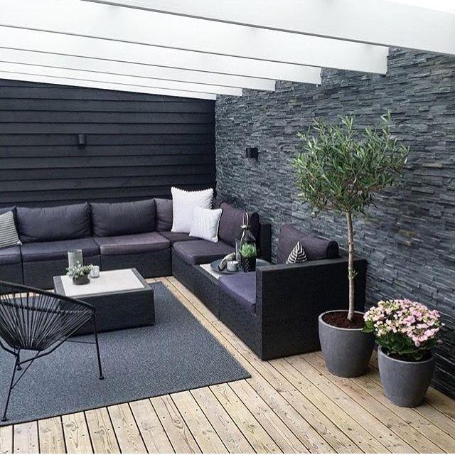 überdachte Terrasse Gartenplatz