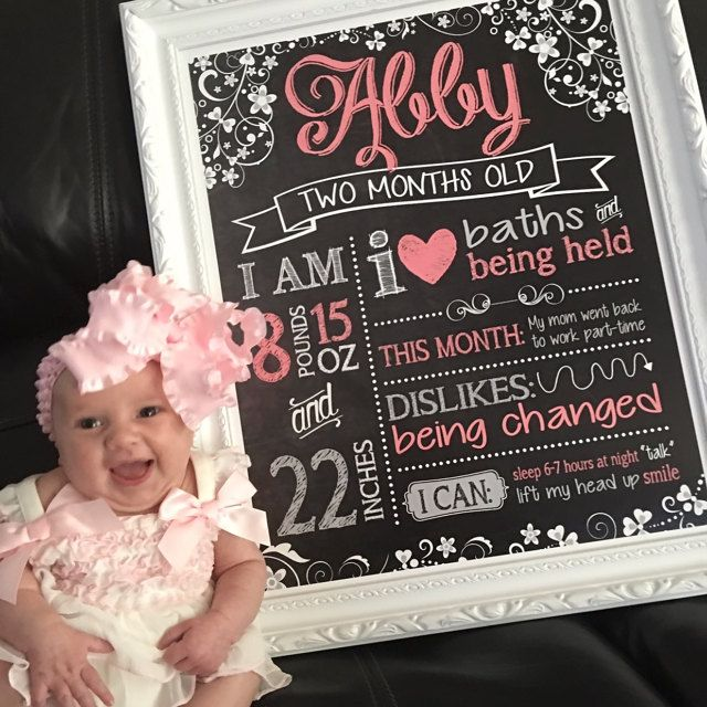 Monthly baby stats sign package - designed by Teal Olive Designs - any design! Monthly packages available