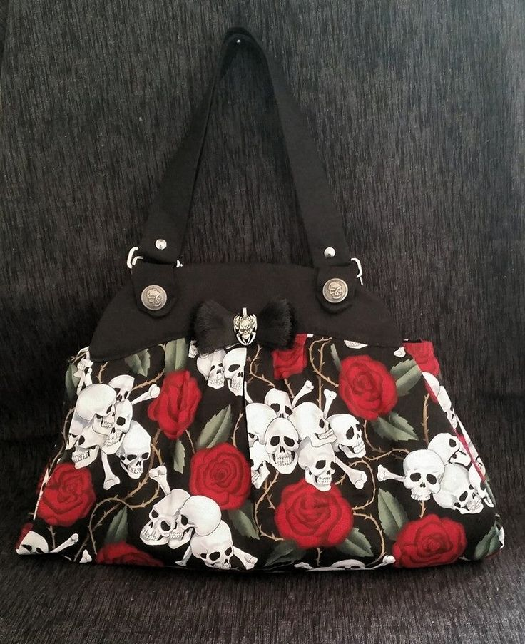 Skulls Range ~ Handbag Divider panel, zippered pocket, inside pockets  https://www.facebook.com/mbmaccessories1