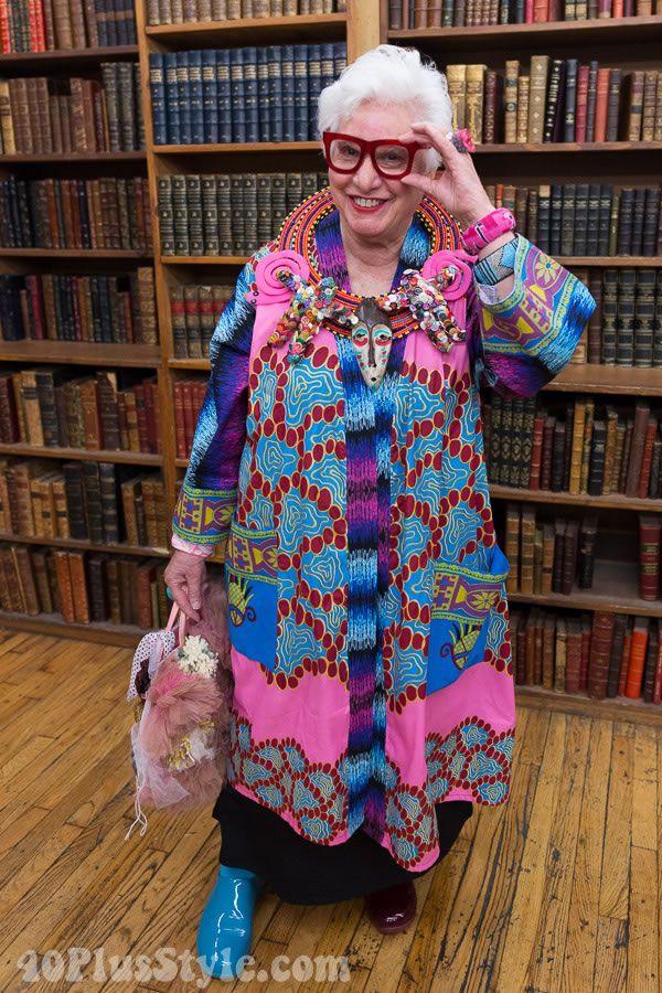 Sue Kreitzman's beautiful colorful style   40plusstyle.com
