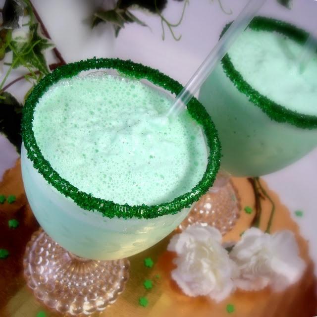 Shake: Irish Ideas Food, Green Mustache, Shamrock Shakes, Heart, Thin Mint, Grateful Prayer, Shamrock Milkshakes, Recipes, St. Patrick'S