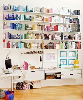 .: Coded Bookshelf, Bookcase, Coded Bookshelves, Colors, Cool Bookshelves, Colorful Bookshelves, Creative Bookshelves