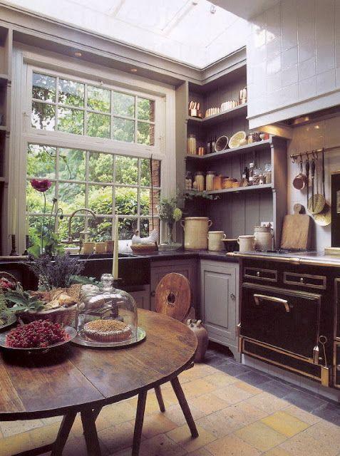 gray Kitchen Open Shelves Idea