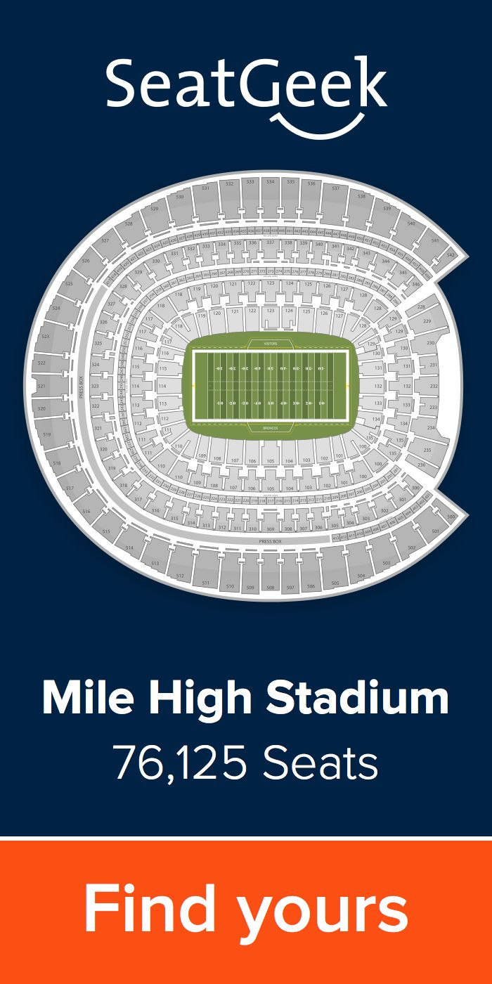 Get the best deals for Broncos tickets on SeatGeek!