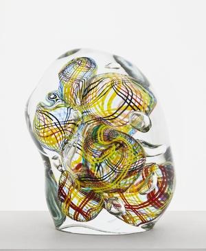 Sitruunaspaghetti Oiva Toikka 2012 37 x 32 cm Hand blown glass GF 6131