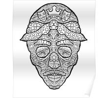 Tupac Shakur Sugar Skull - Day of the Dead Poster - Illustrated by @complicolor from the Complicated Coloring Book Series - More info here www.complicatedcoloring.com