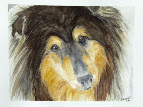 Ritratto PERSONALIZZATO di animale domestico di OrmeDiCaffe