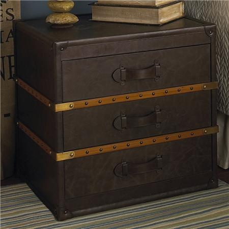 I love steamer trunks and piles of suitcases as side tables