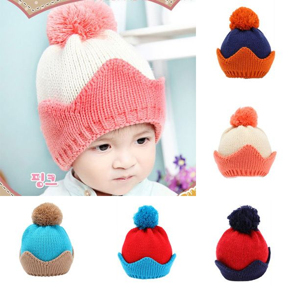 >> Click to Buy << Toddlers Baby Girls Boys Knit Woolen Ball Crown Hats Beanie Caps Winter Hats X5 #Affiliate