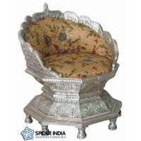Royal Silver inlay  Wedding Throne Chairs