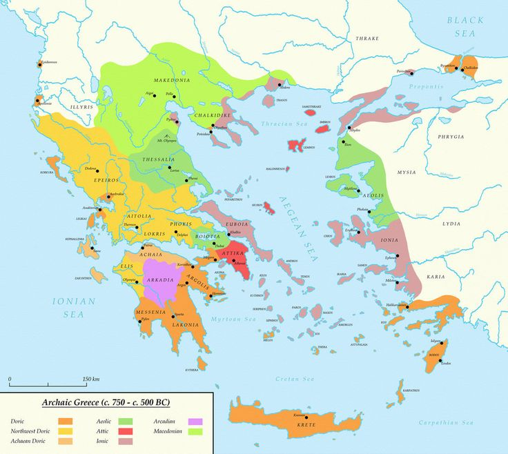 Archaic Greece (c. 750 - c. 500 BC) by Undevicesimus on DeviantArt