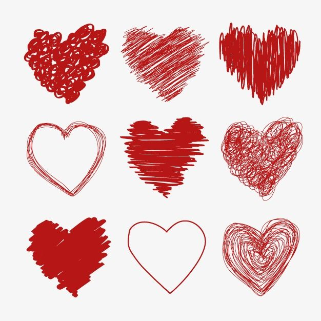 Vector Hand Drawn Hearts Heart Shaped Heart Hearts Png Transparent Clipart Image And Psd File For Free Download Heart Hands Drawing Heart Doodle Valentines Day Clipart