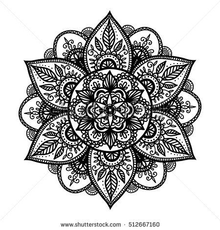Bohemian Indian Mandala print. Vintage Henna tattoo style Indian medallion. Ethnic ornament could be used as shirt print, phone case print, textile, c…