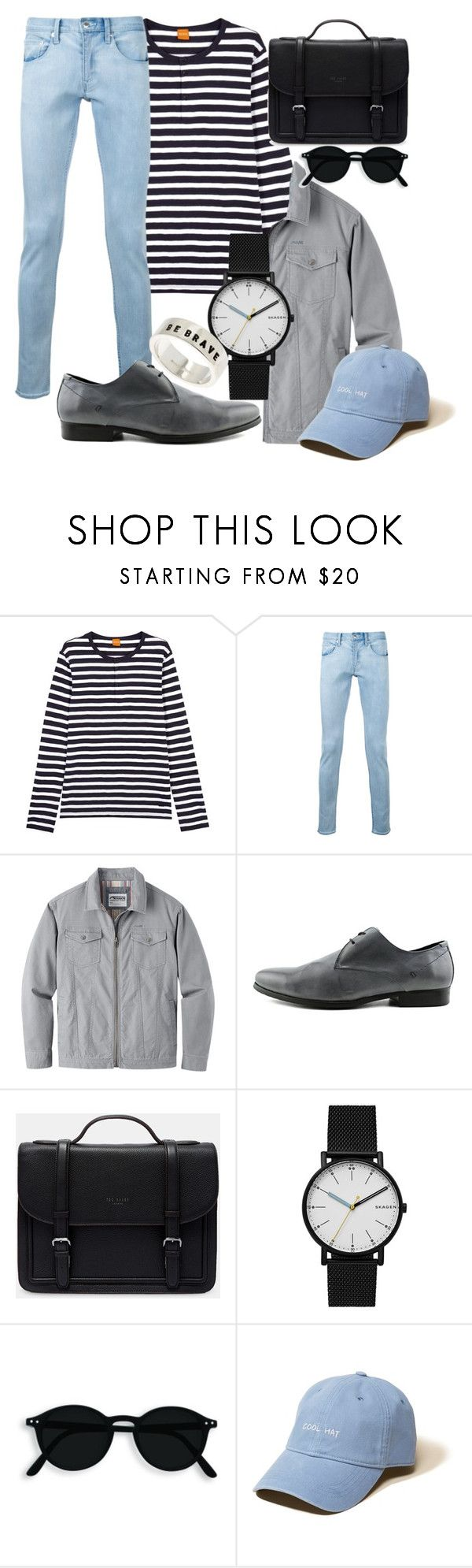 """""""Untitled #52"""" by plain-noodle on Polyvore featuring BOSS Orange, monkey time, Mountain Khakis, ALDO, Ted Baker, Skagen, Hollister Co. and Gioielli Corsini"""