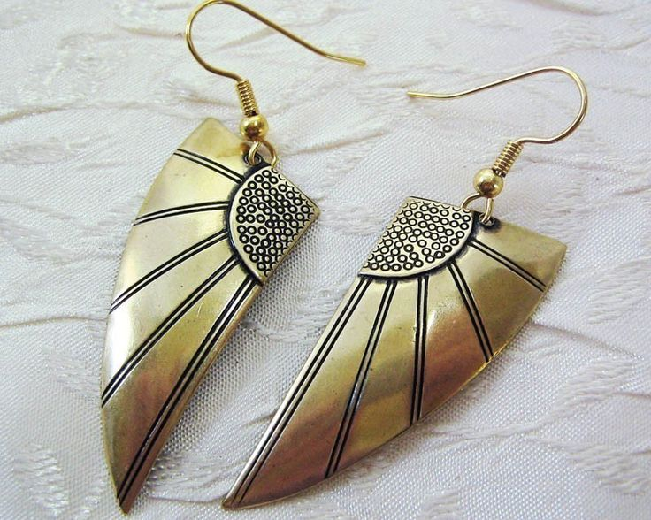 Art Deco Earrings Wing Earrings Art Deco Jewelry by sandrandan on Etsy https://www.etsy.com/listing/62435022/art-deco-earrings-wing-earrings-art-deco