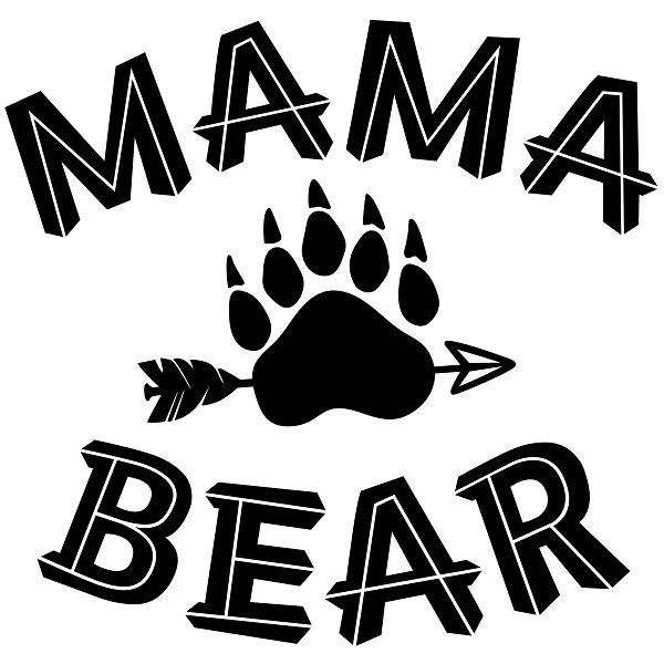 Mama Bear Paw 90th Silhouette Design Bear Paws