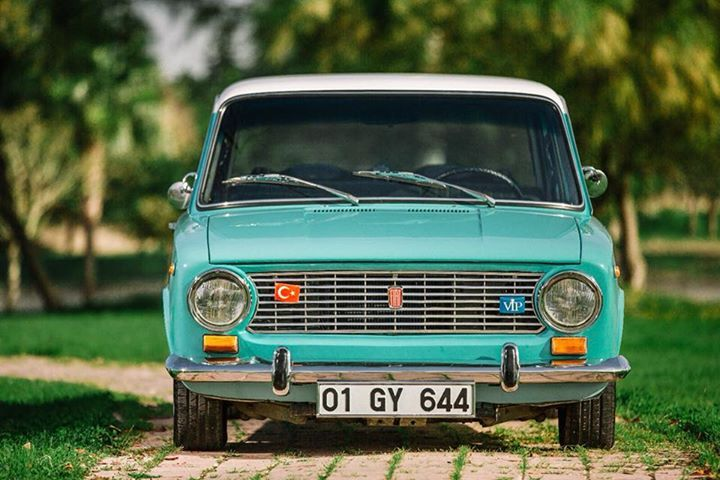 Murat 124 #cars #fiat #italy #clouds #sky #green #love #colorful #style #instagood  #Россия #cccp #sun #red #photo #chrome