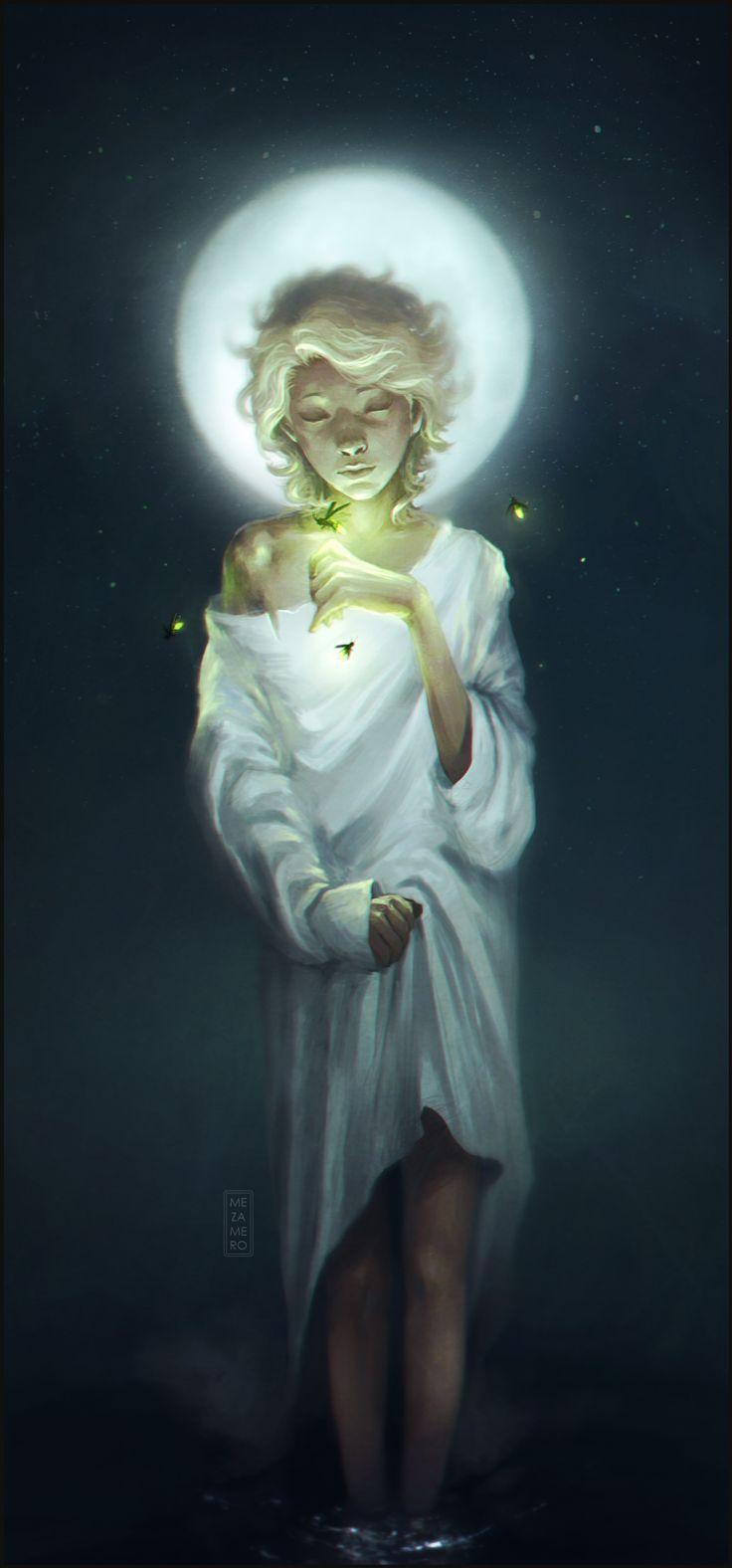 """""""Hijo de la luna"""" by *Mezamero. http://mezamero.deviantart.com/art/Hijo-de-la-luna-296488813"""