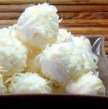Boliltas de nieve de queso crema