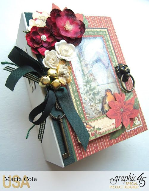 Graphic 45 Winter Wonderland Rectangle Tag & Pocket album by Maria Cole.