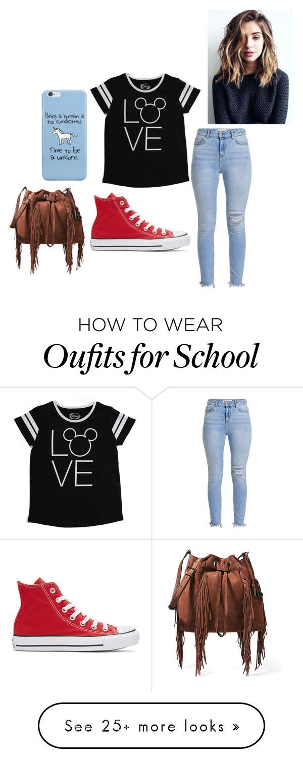 """School is horrific"" by lvcph on Polyvore featuring Disney, Converse and Diane Von Furstenberg"