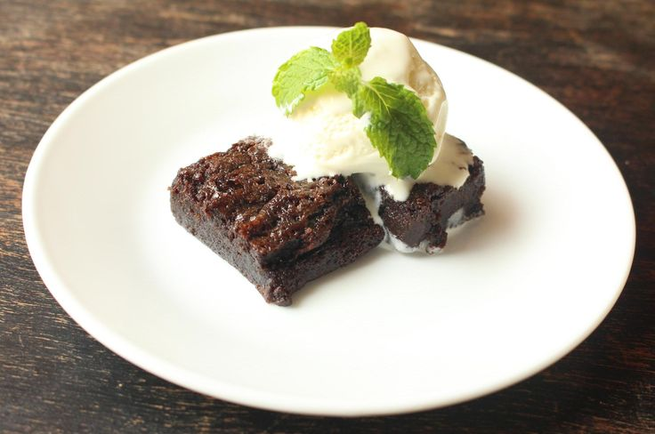 Dark Chocolate Brownies - Baking In A Convection Microwave
