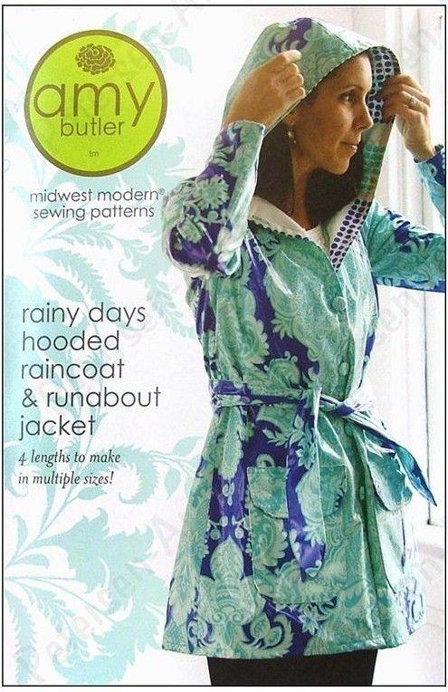 Amy Butler Rainy Days Raincoat Sewing Pattern