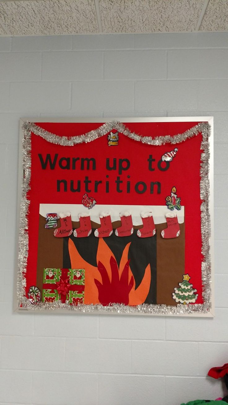 Go green vegetable bulletin board idea myclassroomideas com -  Christmas Board Nutrition Cafeteria Lunchlady Bulletin Boardsnutritionschool Ideas