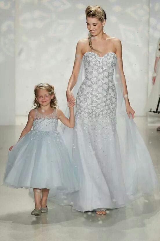 Elsa inspired wedding dress