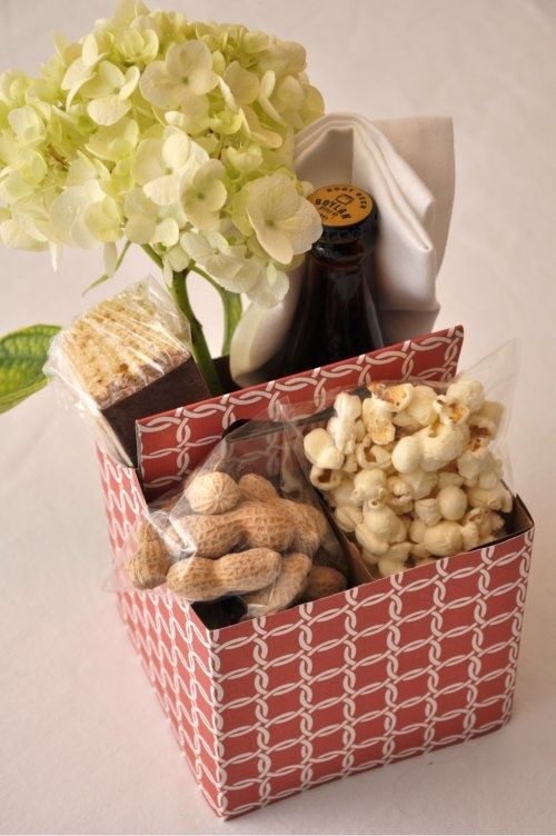 4 pack or 6 pack holders make great containers for gift baskets