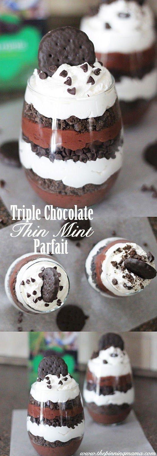 Triple Chocolate Thin Mint Parfait