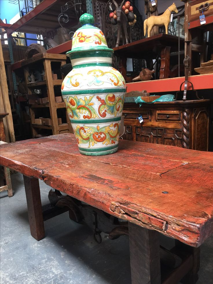 antique Mexican door dining table