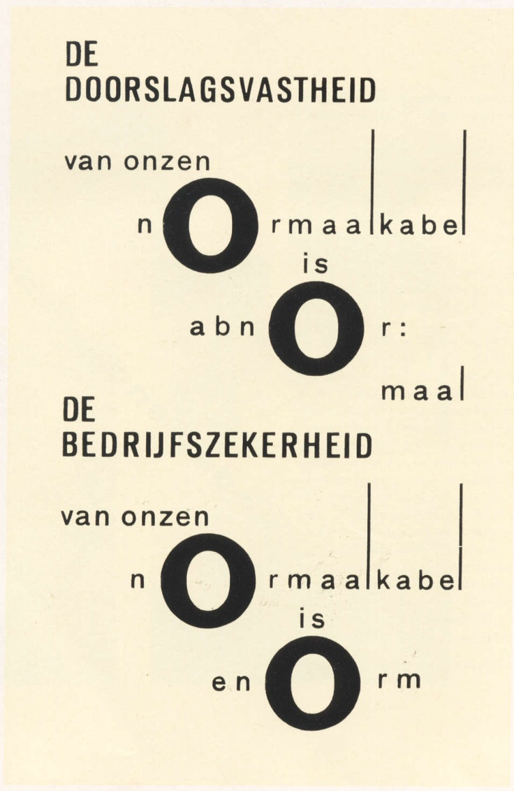 Piet Zwart - NKF (Netherlands Cable Factory) 'The conductivity of our Normal cables is abnormal, The company security of our normal cable is enormous' 1925