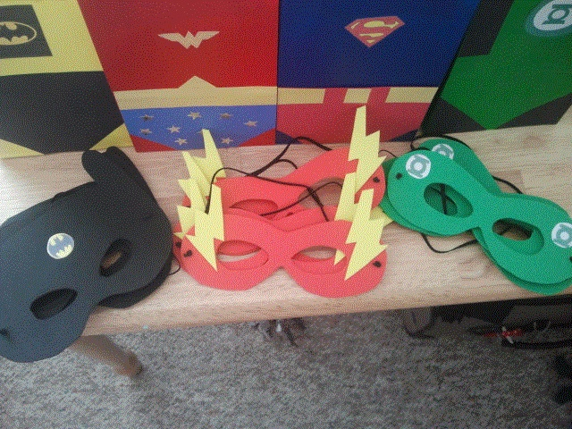 Justice League Masks for goody bags