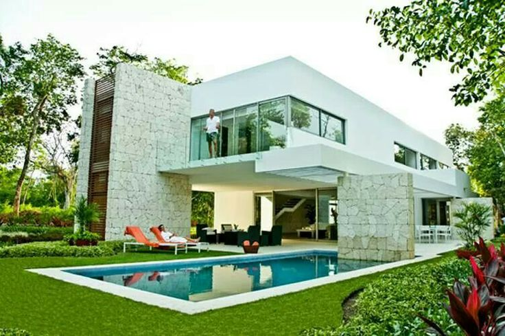 Beautiful private simple compact and clean cut. Not too much glass. Perfect,  and with a garden