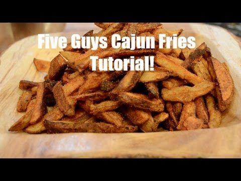 Authentic Five Guys Cajun Fries Tutorial (baked), ,