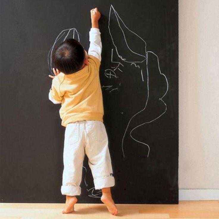 """45 ס""""מ x 200 ס""""מ ויניל לוח וגיר מדבקות pvc מדבקות blackboard נשלף מתנה גדולה לילדים"""