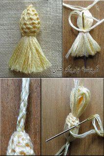 irish crochet floral tassels | Found on mavis62.blogspot.com