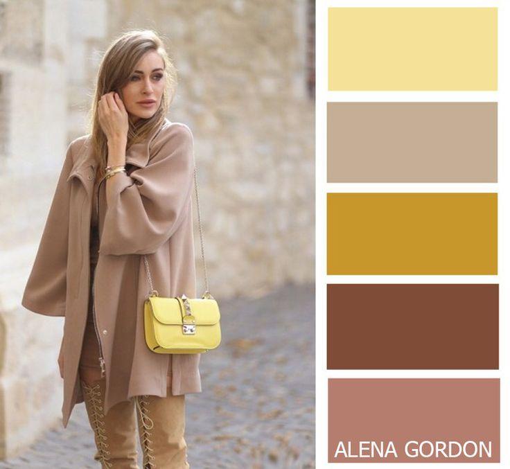 beige + yellow