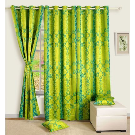 Swayam Premium Digitally Printed Blackout Curtain Green - Fastidious about all the decor items and accessories you buy