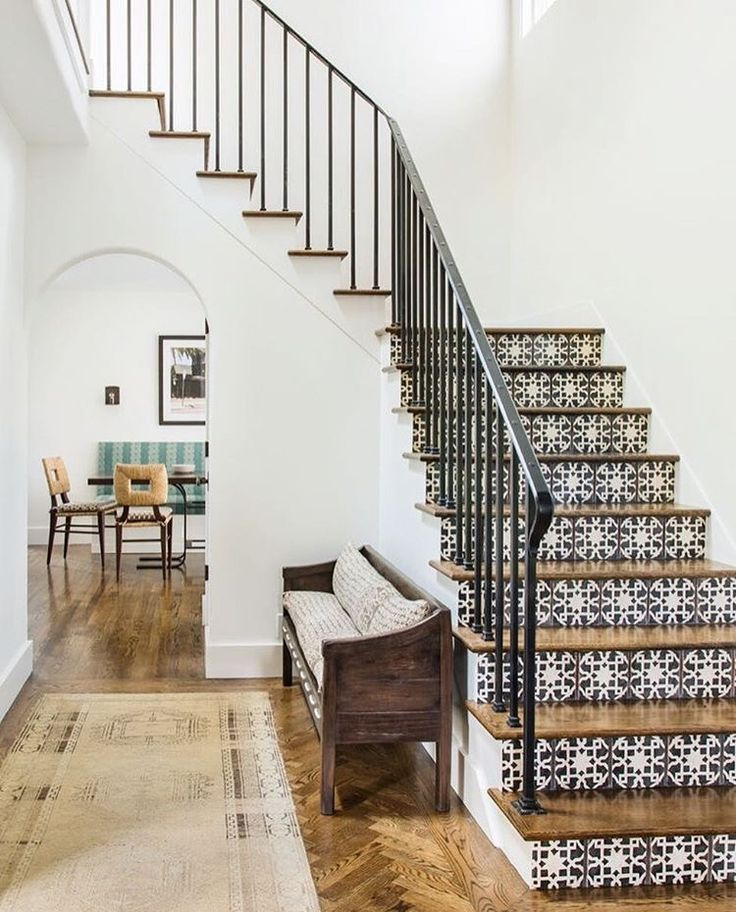 tiled stairs