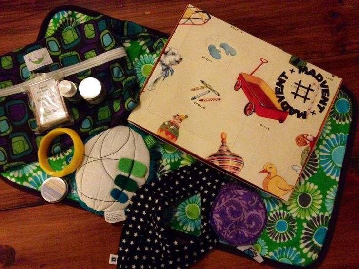 Madvent baby calendar ready to be packed