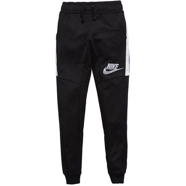 Nike Nike Older Boy Nsw Tribute Poly Slim Leg Pant ($39) ❤ liked on Polyvore featuring pants, nike pants, slim leg trousers, nike, nike trousers and slim leg pants